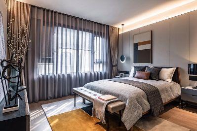 两套别墅房子的窗帘安装服务,需要上面测量