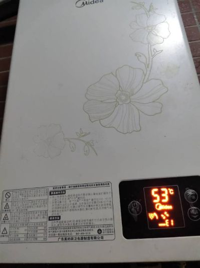 美的电热水器点火失败,故障码E1